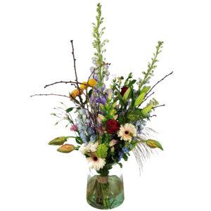 Bloemenboeket met zomerse kleuren