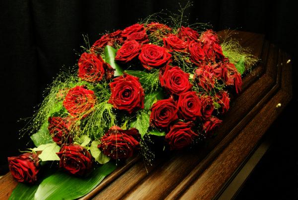 Grafstuk bloemstuk overlijden afscheidsbloemen, Crea-fleur