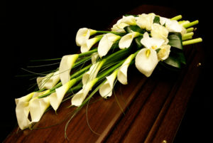 bloemstuk Calla Crea-fleur overlijden begrafenis