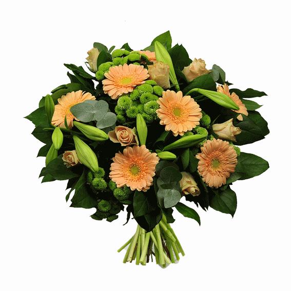 Boeekt zalm groen crea-fleur online bloemen bestellen
