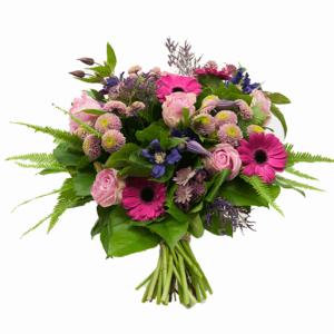 Boeket roos fuchsia Crea-fleur online bestellen