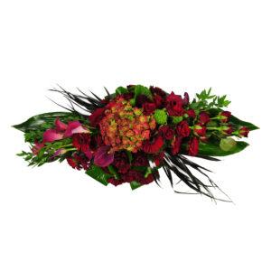Afscheidsbloemen Grafbloemstuk roze rozen