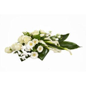 Afscheidsbloemen witte kleuren