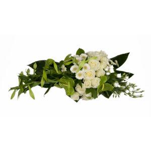 Afscheidsbloemen witte lelies anthurium