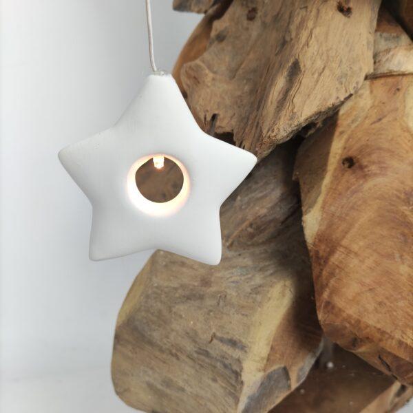 Kerstdecoratie ster met lichtje