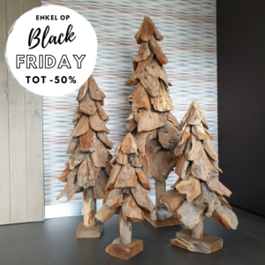 Houten kerstboom Black friday