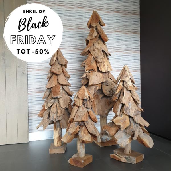 Houten kerstboom Black friday