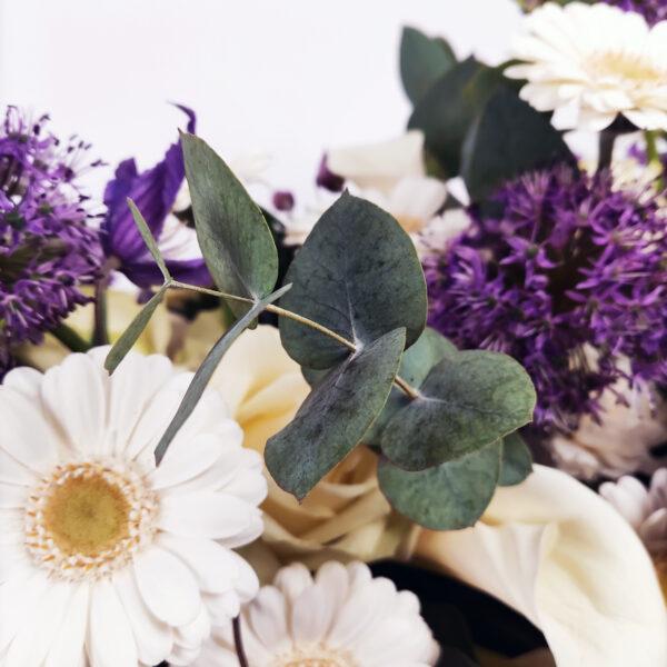 Afscheidsbloemen detail Eucalyptus