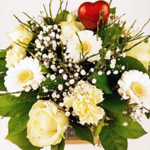 Valentijnsboeket: wit