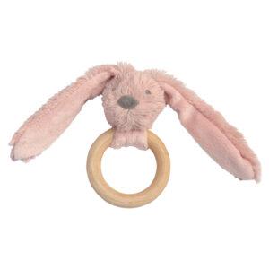 Bijtring konijn roze