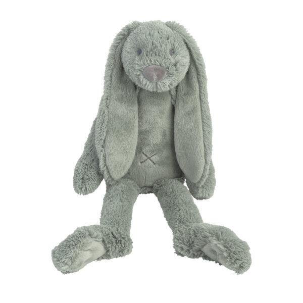 Knuffel konijn blauw medium