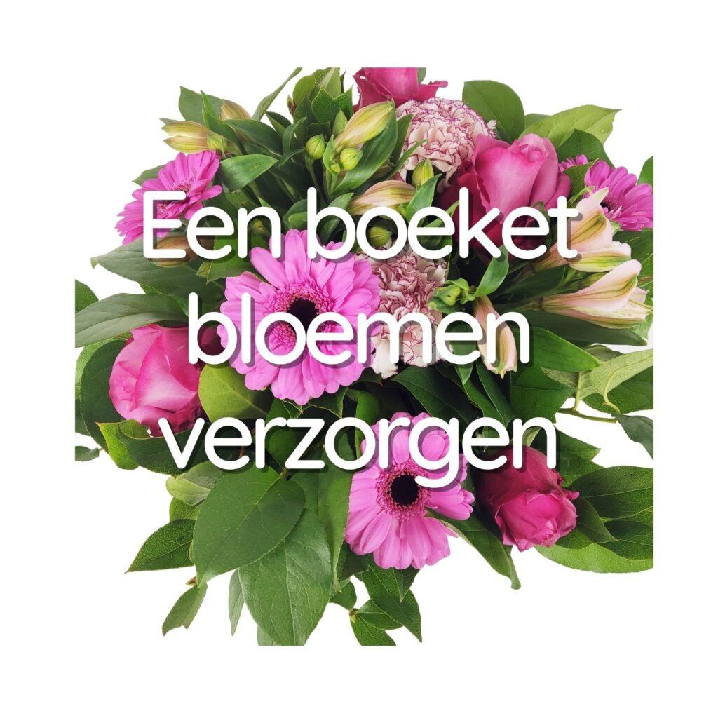 Een boeket bloemen verzorgen: alle tips